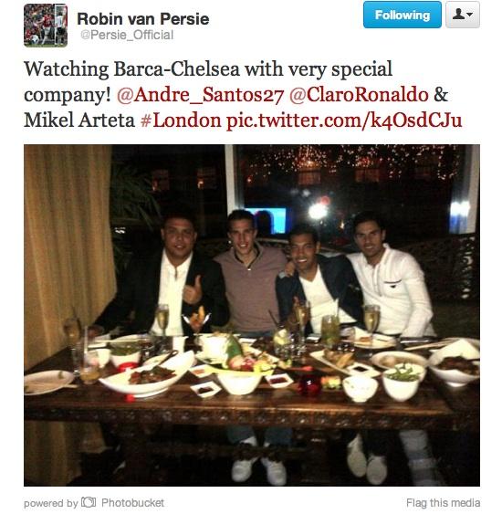 RVP with Ronaldo