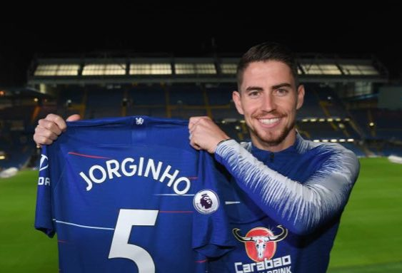 Jorginho links up with Sarri at Chelsea